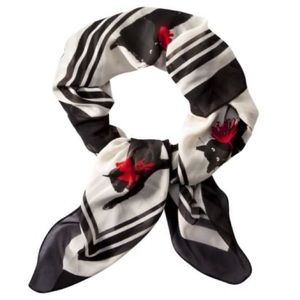 Jason Wu Target Cat Print Multicolor Square Scarf
